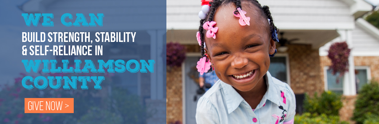 We can build strength, stability & self-reliance in Williamson County.